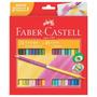 Ecolápis De Cor 48 Cores Em 24 Lápis Bicolor Faber Castell