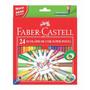 Lápis De Cor Ecolápis 24 Cores Super Ponta Faber Castell
