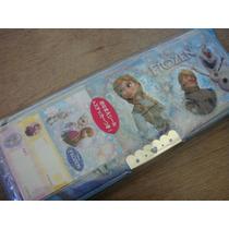 Estojo Estilo Japonês Da Elsa & Ana (frozen) C/ Apontador