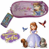 Estojo Necessaire Princesinha Sofia C/ 2 Repartições Cheson