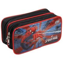 Estojo Bolsa Porta Lápis Spider Man H. Aranha Duplo Tilibra