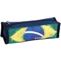 Estojo Material Escolar Bandeira Do Brasil Juvenil Dermiwil