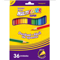 Kit 3 Caixas Lápis Faber Castell 36 Cores Grande Super Multi