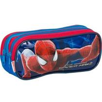 Estojo Escolar Menino Divisorias Spiderman Filme 15m Sestini