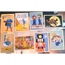 Lote C 8 Cartões Postal Desenhos Animes, Superman, Pato Dona