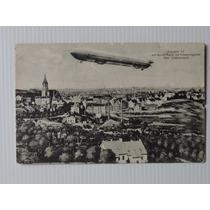Alemanha Postal Zeppelin 1909 Circulado