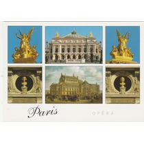 Postal Antigo - Teatro De Opéra - Paris - França - F19