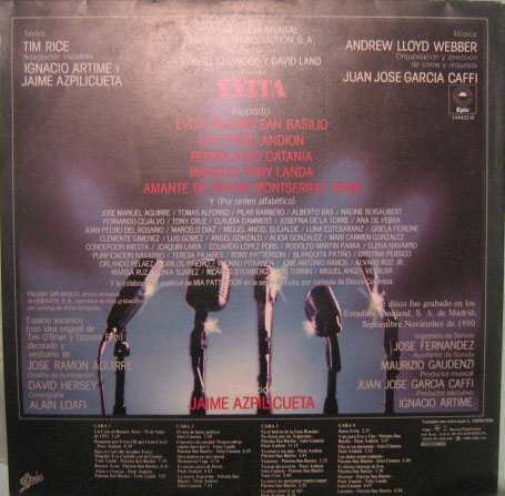 Evita - Version Original En Español - 1980 Álbum Duplo