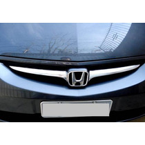 Aplique Adesivo Cromado Para Grade Frontal Honda Fit