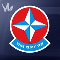 Adesivo This Is My Toy Estrela Jdm Fixa Euro Dub Rebaixado
