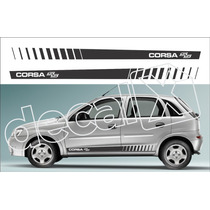 Kit Faixas Adesivos Chevrolet Corsa Ss Cm2006 - 3m - Decalx