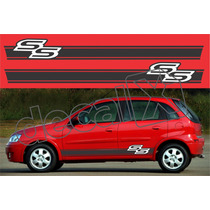 Kit Faixas Adesivos Chevrolet Corsa Ss Css002 - 3m - Decalx