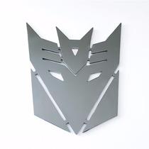 Emblema Transformers Decepticons - Em Aço Inox