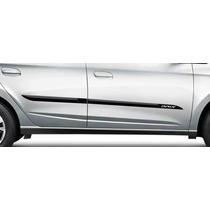 Friso Lateral Tg Poli Chevrolet Onix Hatch/sedan 12/16 4 Por