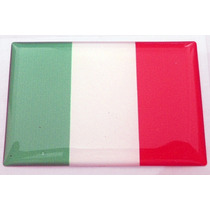 Bandeiras Adesivas Resinadas País Itália - Mmf Auto Parts