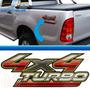 Emblema Adesivo 4x4 Turbo Toyota Hilux 2009 Em Diante