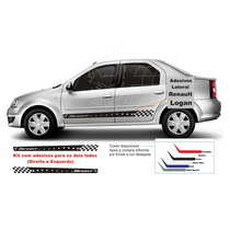 Faixa Lateral Carros Renault Logan Adesivos Tuning Acessorio
