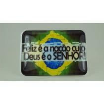 Bandeira Bandeirinha Resinada Do Brasil Gospel Adesivo