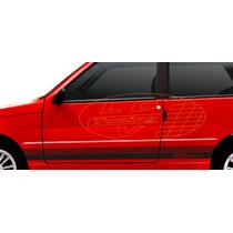 Kit Adesivos Fiat Uno Mille Elx Faixa Lateral Tuning
