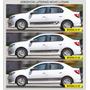Kit De Adesivos Faixas Laterais Novo Logan Renault