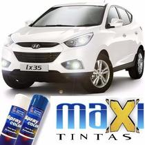 Spray Autmotivo Hyundai Branco Polar + Massa + Lixa + Verniz