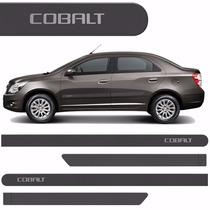 Friso Lateral Chevrolet Cobalt 2012 /2016 Cinza Mond *