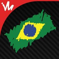 Adesivo Adesivo Bandeira Do Brasil Rally Copa Sticker Bomb
