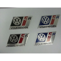 Emblema Vw Racing R Line Polo Golf Jetta Saveiro Fox Fusca