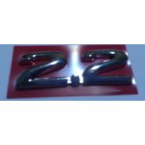 Emblema 2.2 Cromado Astra Kadett Vectra Omega Monza Opala 96