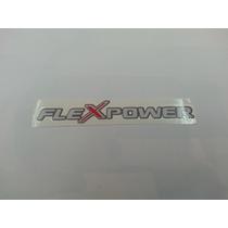 Emblema Adesivo Flex Power Celta Prisma Corsa Vectra Montana