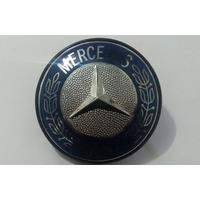 Emblema Resinado Capo Mercedes Café Caminhão Abs Cromado
