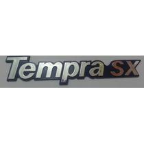 Emblema Tempra Sx Cromado Com Fundo Azul Palio Siena Strada