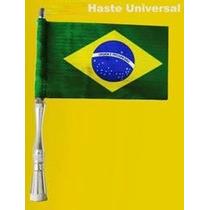 Antena Cromada Alumínio C/ Bandeira - Brasil