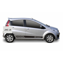 Adesivo Jac Motros J2 Sport Kit Faixas Laterais Tuning Carro