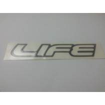 Emblema Adesivo Life Resinado Grafite Corsa Classic Celta