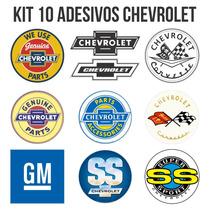 Kit 10 Adesivos Chevrolet Gm Carros Antigos Opala Retrô