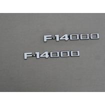 Emblema F-14000 1983 À 1992 Novos Okm Par