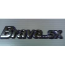 Emblema Brava Sx Fundo Azul Porta Malas Mmf Auto Parts