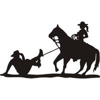 Adesivo Cowgirl Laçando O Cowboy 2 Frete Gratis