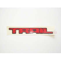 Emblema Adesivo Trail Vermelho Grande Mmf Auto Parts