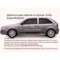Adesivo Turbo Kit Turbo Gol G2 G3 G4 2/p Faixa Lateral Carro