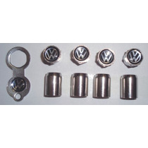 Bico Válvula De Pneu Antifurto Trava - Cromado - Volkswagen