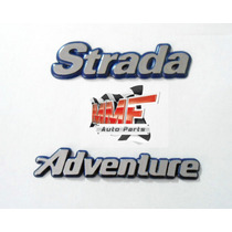 Emblema Strada Adventure Fundo Azul - Mmf Auto Parts