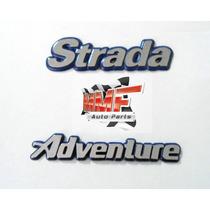 Emblema Strada Adventure Fundo Azul + 1.8 - Mmf Auto Parts