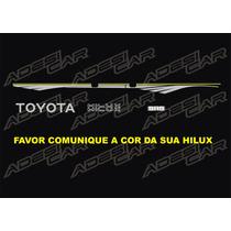 Faixa Da Hilux Antiga Kit C/ 2 Faixas+toyota+sr5+ Nome Hilux