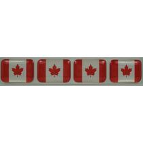 Bandeira Resina Do Canada Tarjeta Adesivo Placa 2,3 X 1,6cm