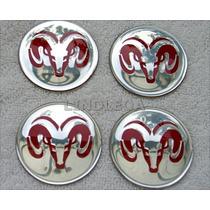 56mm Emblemas Centro Rodas Red Dodge Ram Dakota 1500 2500 V8