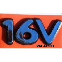 Emblema 16v Fiesta Ka Mondeo Focus Linha Ford 97 Em Diante