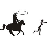 Adesivo Country Cowgirl Laçada Pelo Cowboy