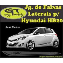 Adesivo Faixas Laterais Hyundai Hb20 (guga Tuning)